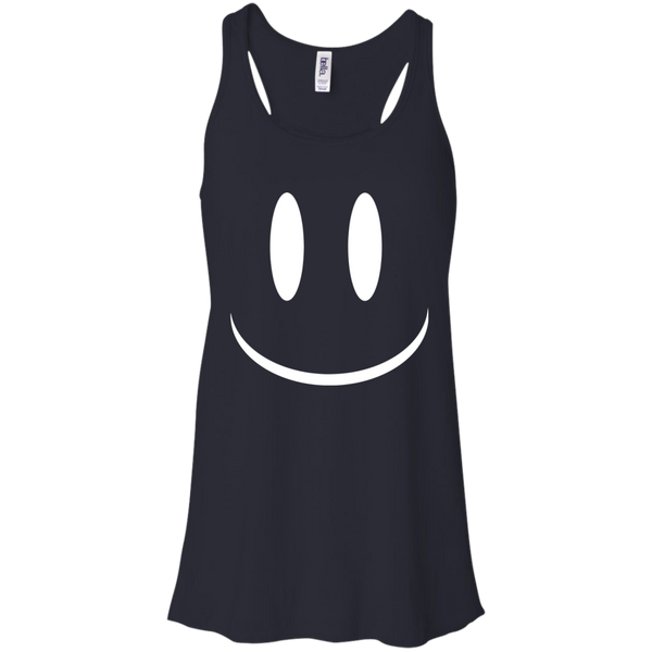 Smiley Face V2 Bella + Canvas Flowy Racerback Tank