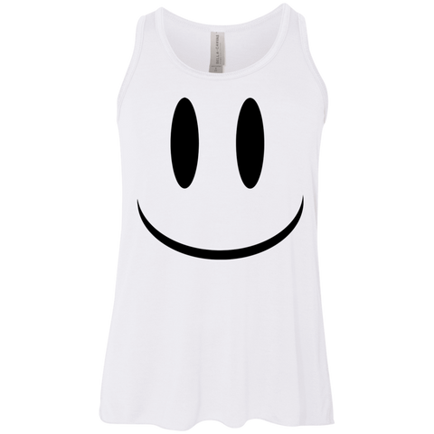 Smiley Face V1 Bella+Canvas Youth Flowy Racerback Tank