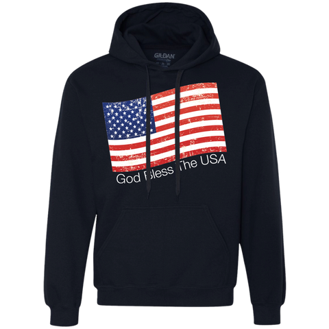 God Bless the USA_white Heavyweight Pullover Fleece Sweatshirt