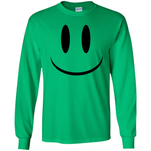 Smiley Face V1 Youth LS T-Shirt