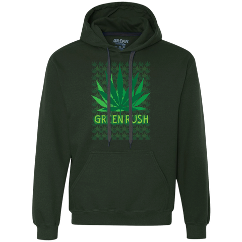 Green Rush Heavyweight Pullover Fleece Sweatshirt