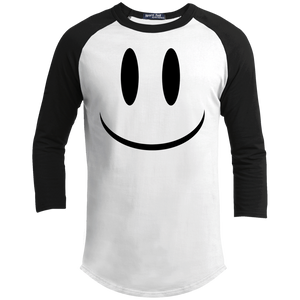 Smiley Face V1 Sport-Tek Youth 3/4 Sleeve Raglan T-Shirt