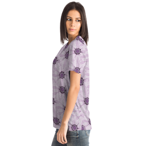 Flower Tshirt Purple