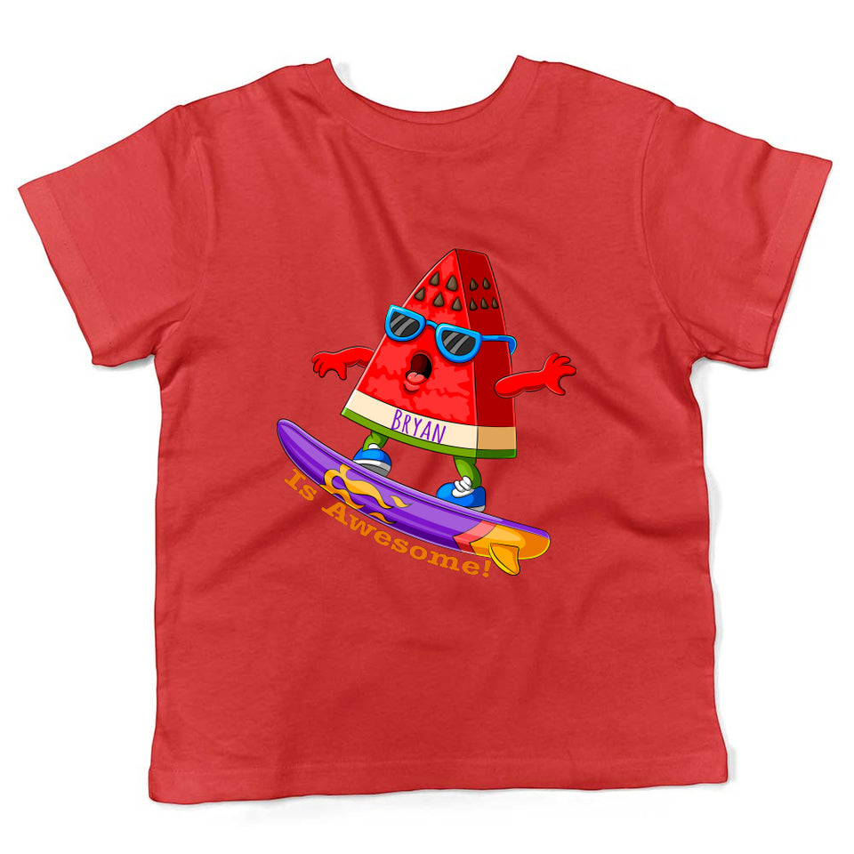 personalized red shirt for kids