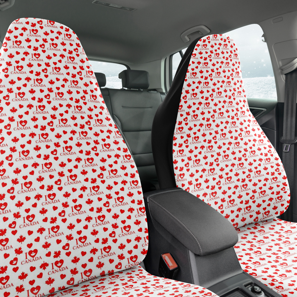 I Love Canada Seat Covers