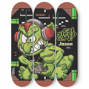 Personalized Mario Troll Skateboard