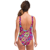 Retro Flower Swimsuit Pink