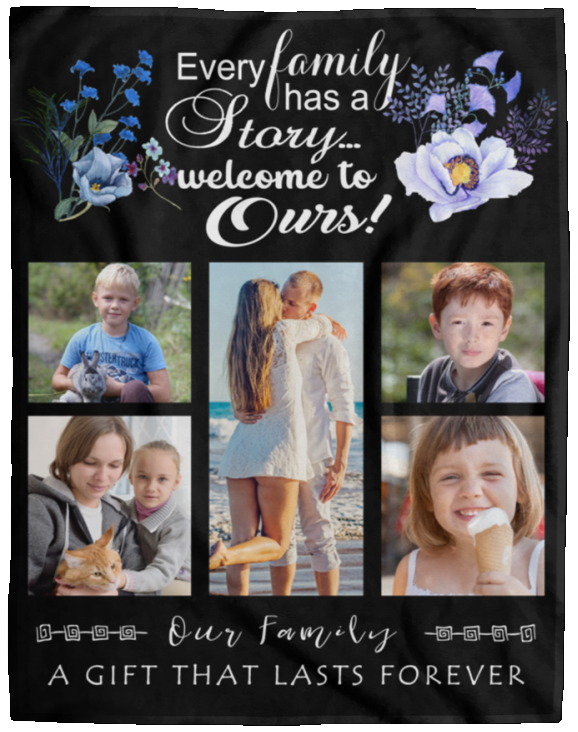Our Family Personalized Photo Blanket