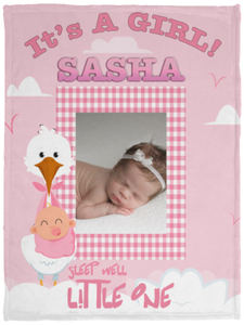 Personalized Baby Blanket With Photo