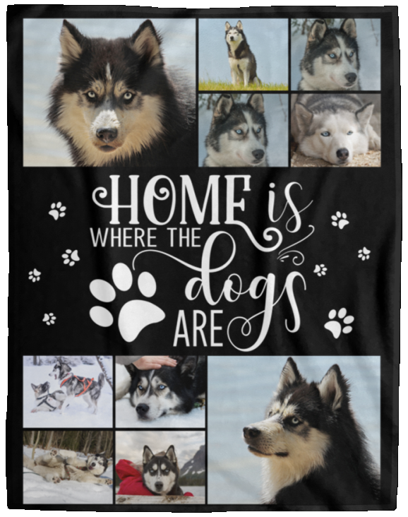Dog Photo Blanket Home Is Where The Dogs Are