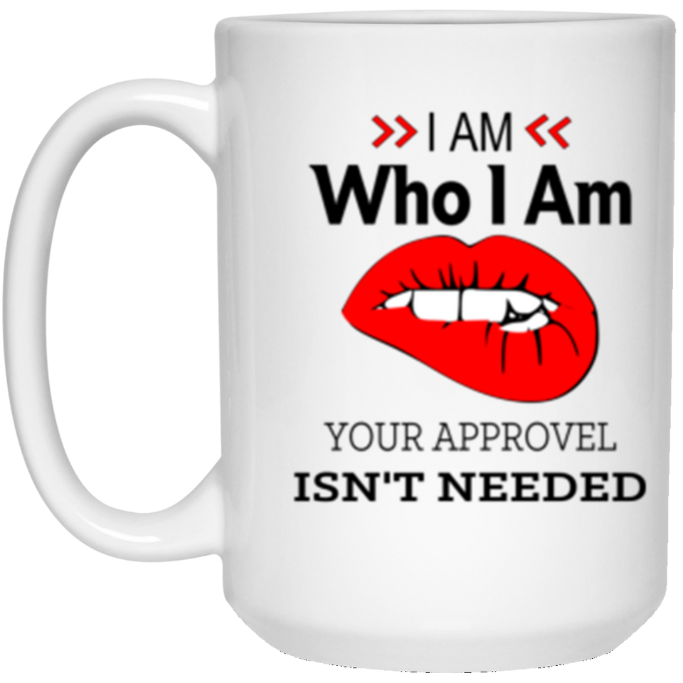 I Am WHo I Am White Mug