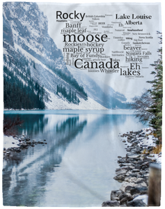 Canada Blanket Word Cloud