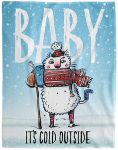 Baby It's Cold Outside Cat Blanket