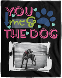 Dog Photo Blanket You Me And The Dog