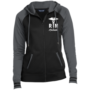 Nurse Ladies Full-Zip Hooded Jacket