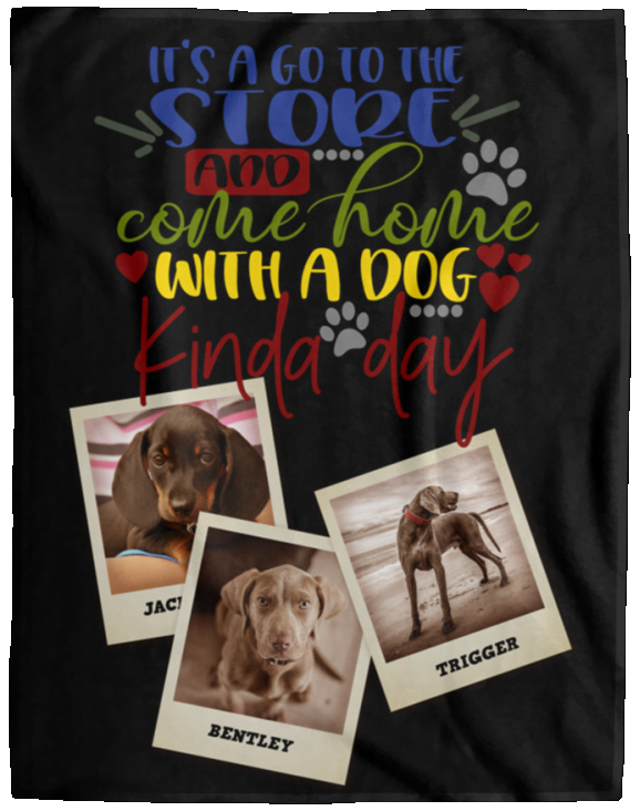 Dog Blanket Personalized With Photos