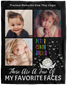 Favorite Things Personalized Photo Blanket