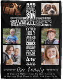 Personalized Christian Photo Blanket