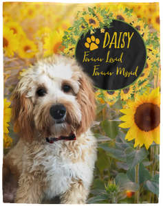 Sunflower Personalized Dog Blanket