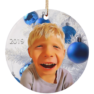 Christmas Ornament Photo Caricature