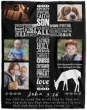 Christian Photo Collage Blanket
