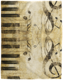 Musical Notes Piano Blanket