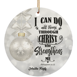 Personalized Christian Ceramic Ornament