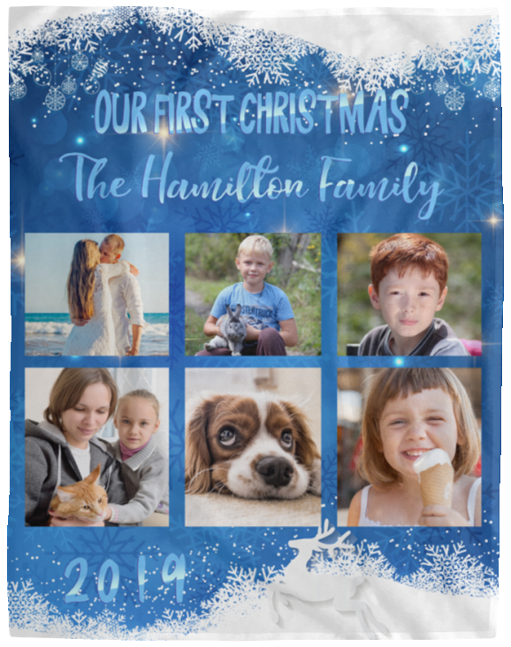 Our First Christmas Personalized Photo Blanket