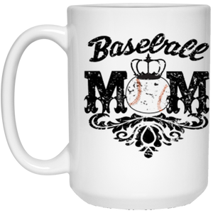 Baseball Mom White Mug