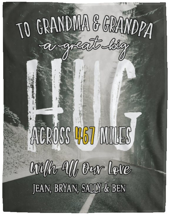 Grandparents Blanket Across The Miles