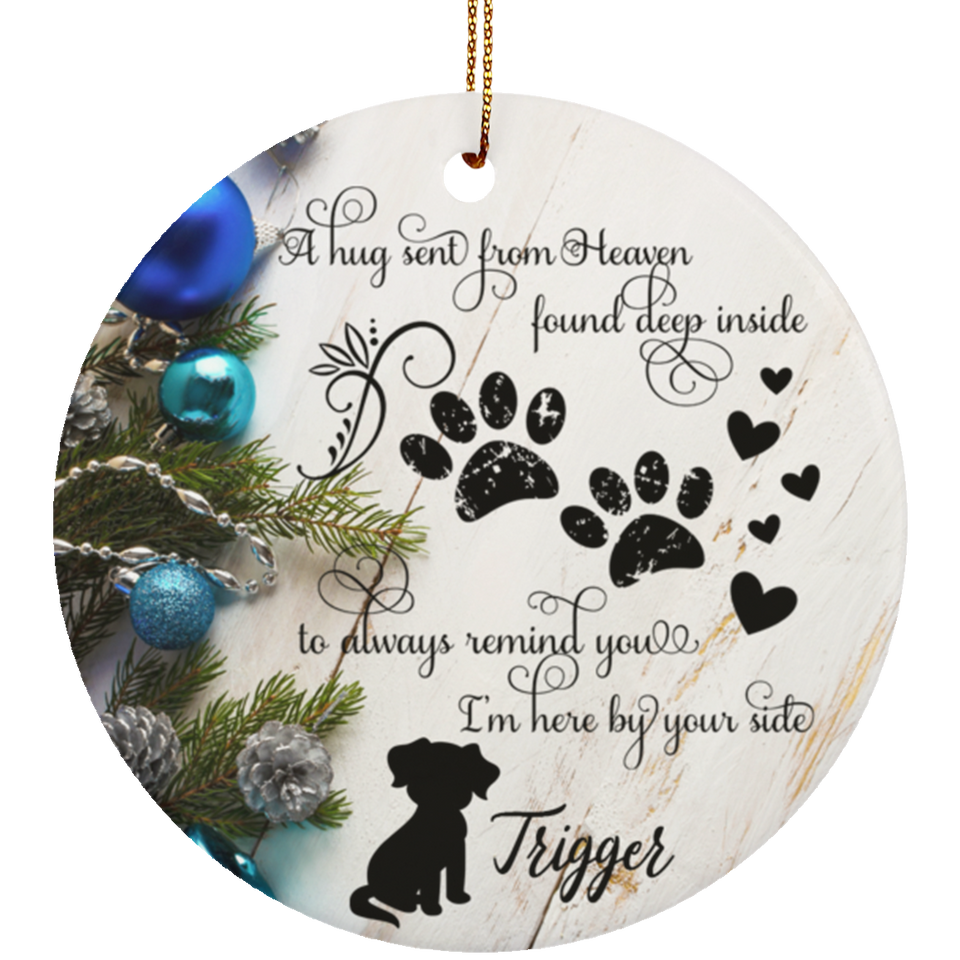 Pet Dog Remembrance Christmas Ornament