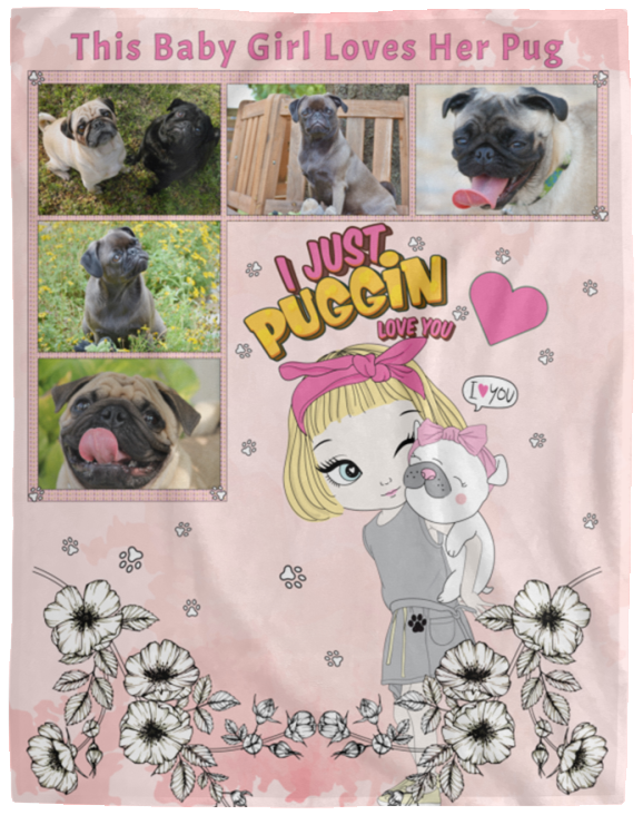 PUG GIFT FOR YOUR GIRL PERSONALIZED WITH YOUR PHOTOS