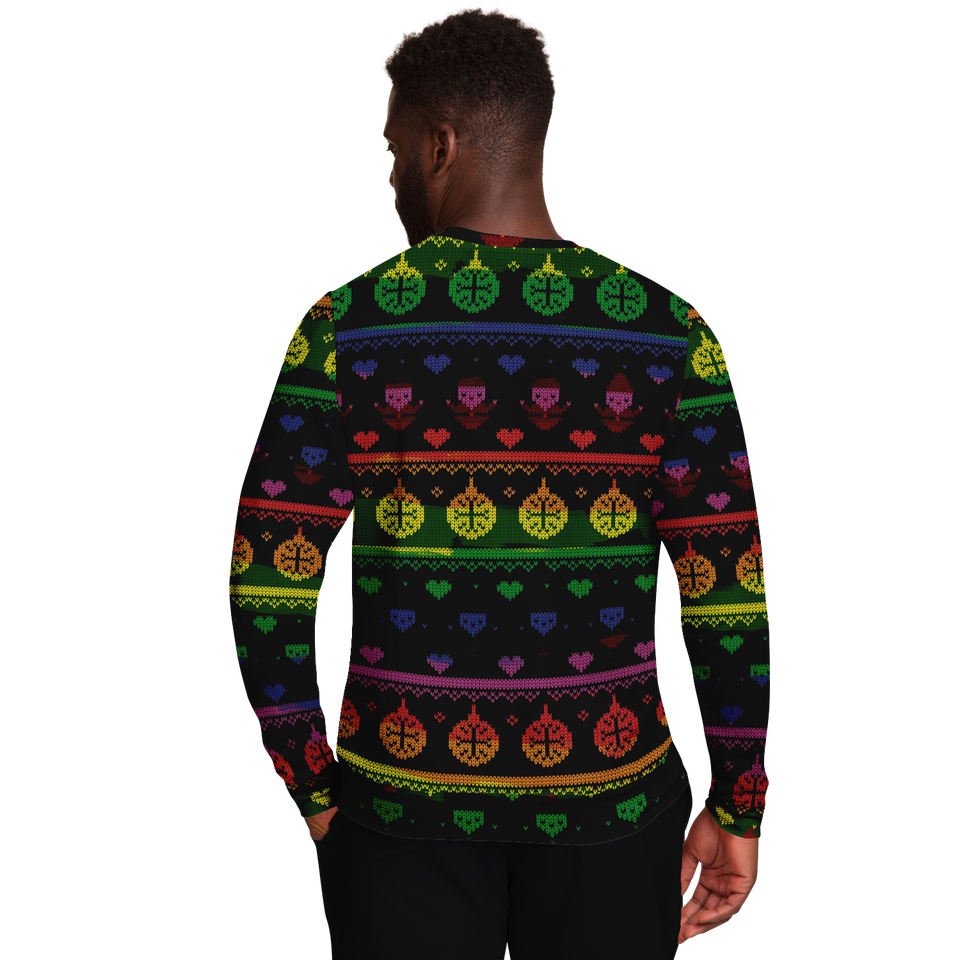 Ugly Christmas Sweater LGBTQ Dark Design