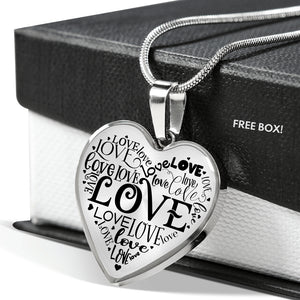 Love Word Cloud Necklace