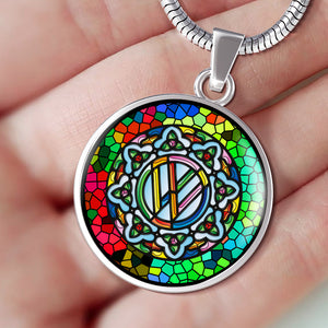Stain Glass Circle Necklace