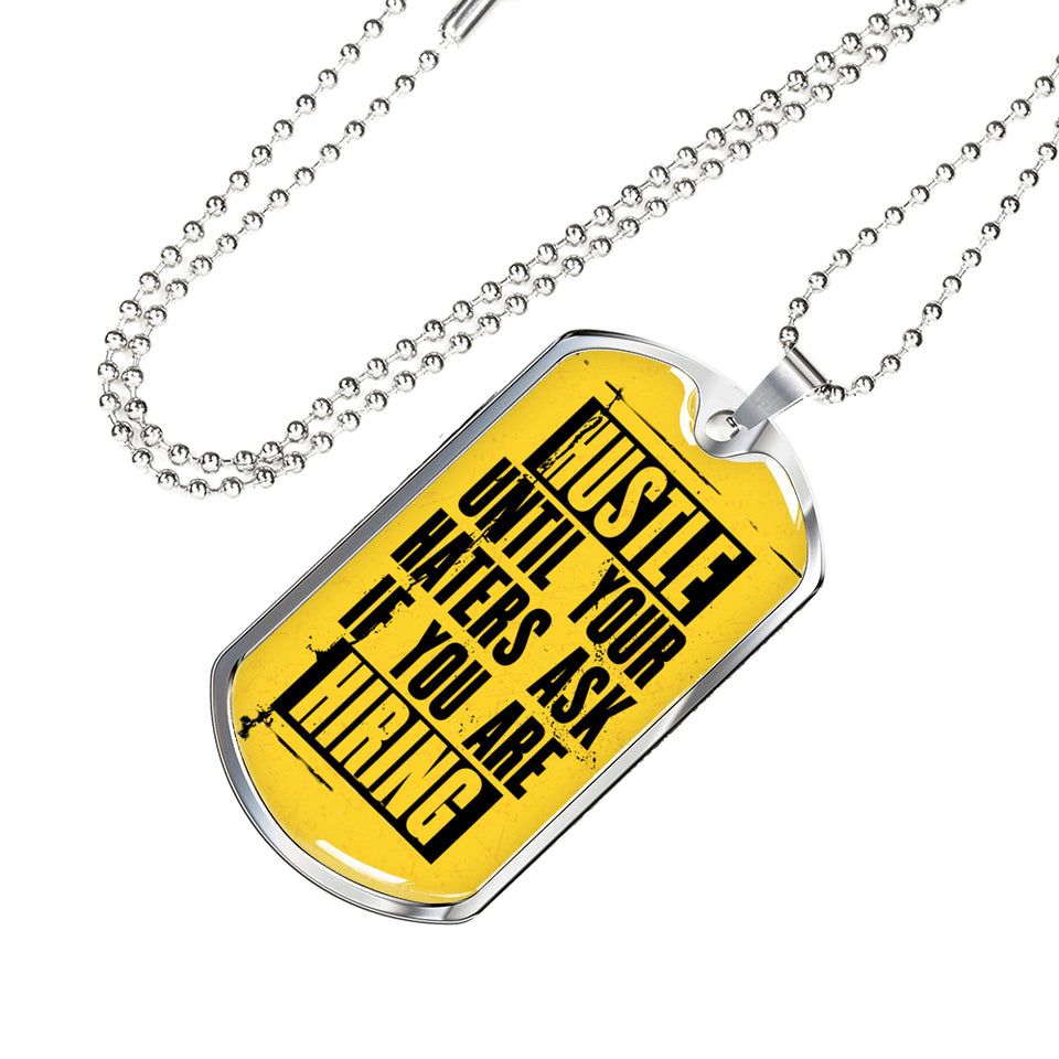Inspiration Quote On A Necklace
