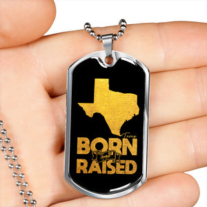 Texas Born And Raised Necklace