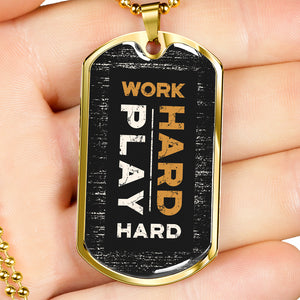 Military Dog Tag Necklace With Inspirational Quote