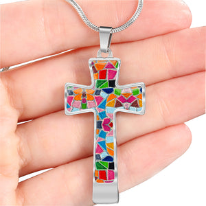 Colorful Mosaic Cross For Women