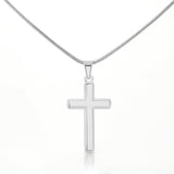 Christian Cross 14k White Gold