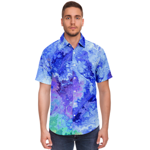 Tie Dye Liquid Ink Button Down Shirt