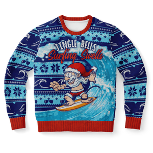 Surfing Ugly Christmas Sweater