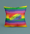 Gay Pride Love Wins Pillow 18x18