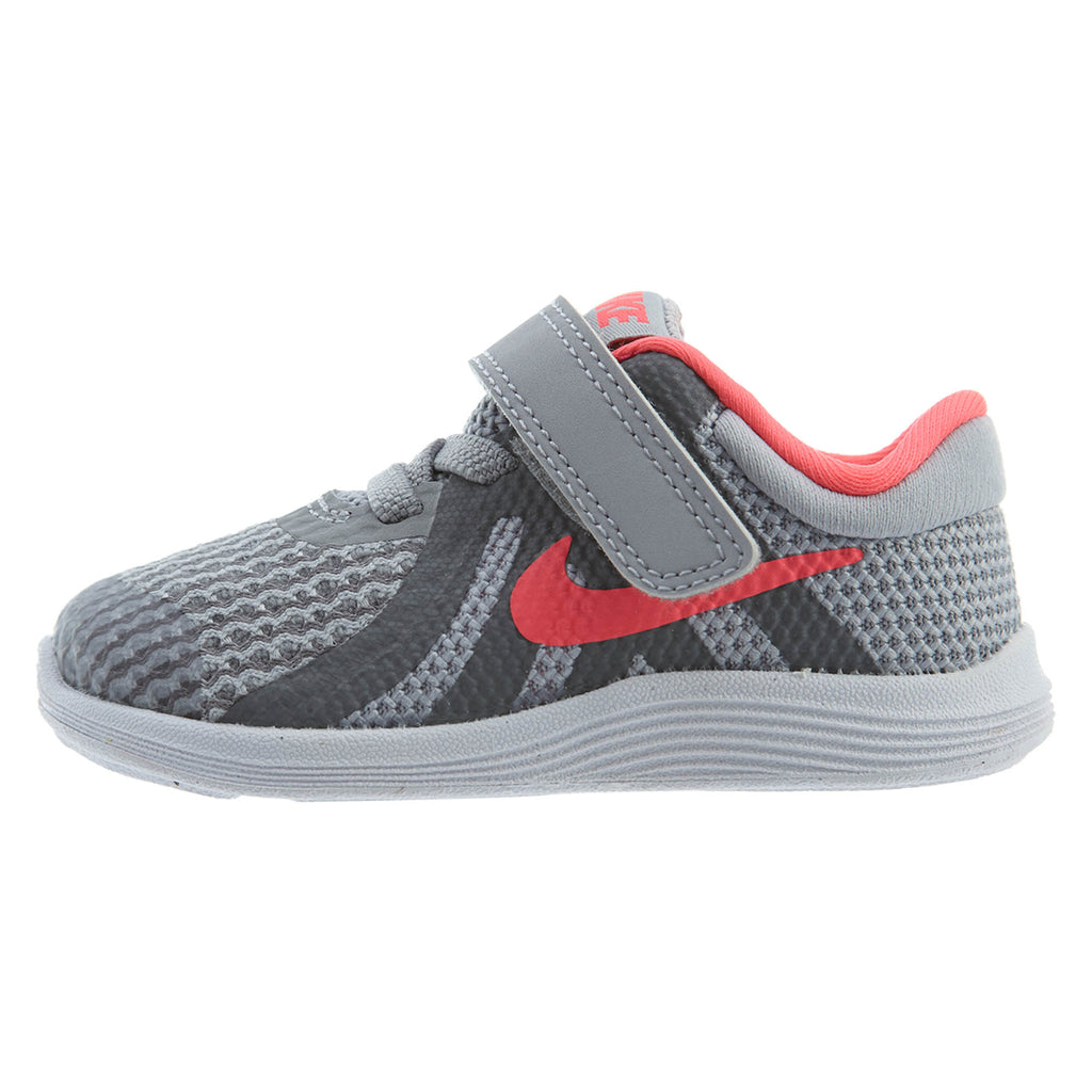 Nike Todder Revolution 4 (TDV) Wolf Grey/Pink Boys / Girls Style :943308