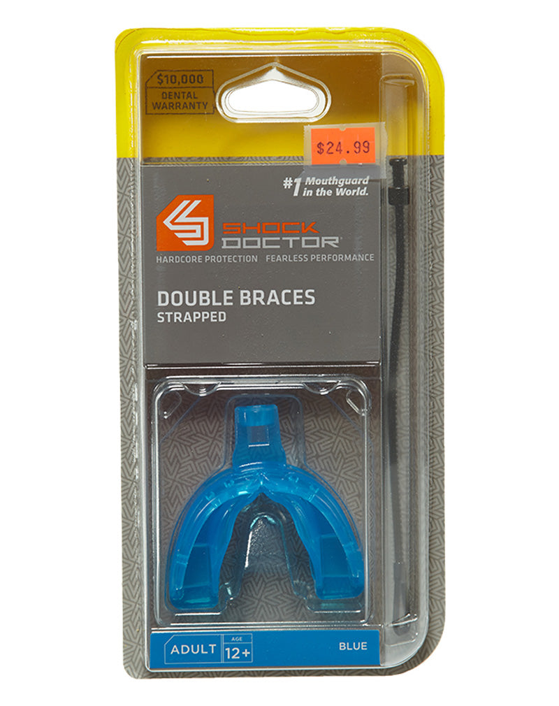 Shock Doctor Double Braces Strapped Mouthguard Mens Style : 4301a