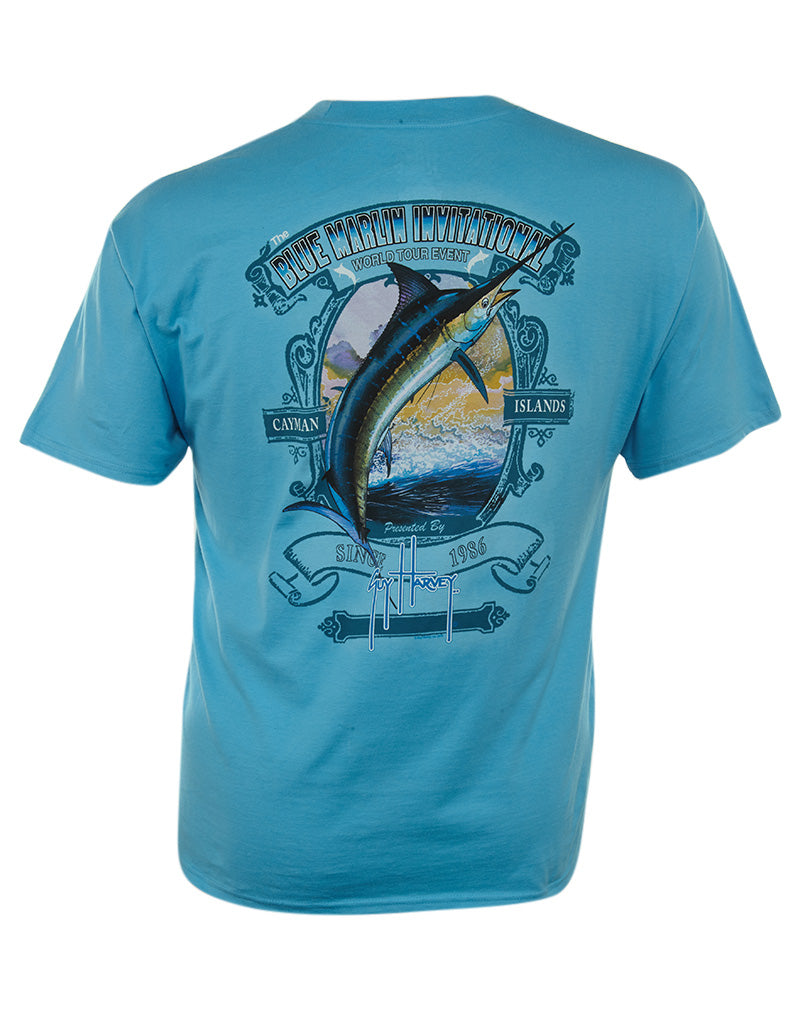 Guy Harvey Blue Marlin Inv Mens Style : Mth1674