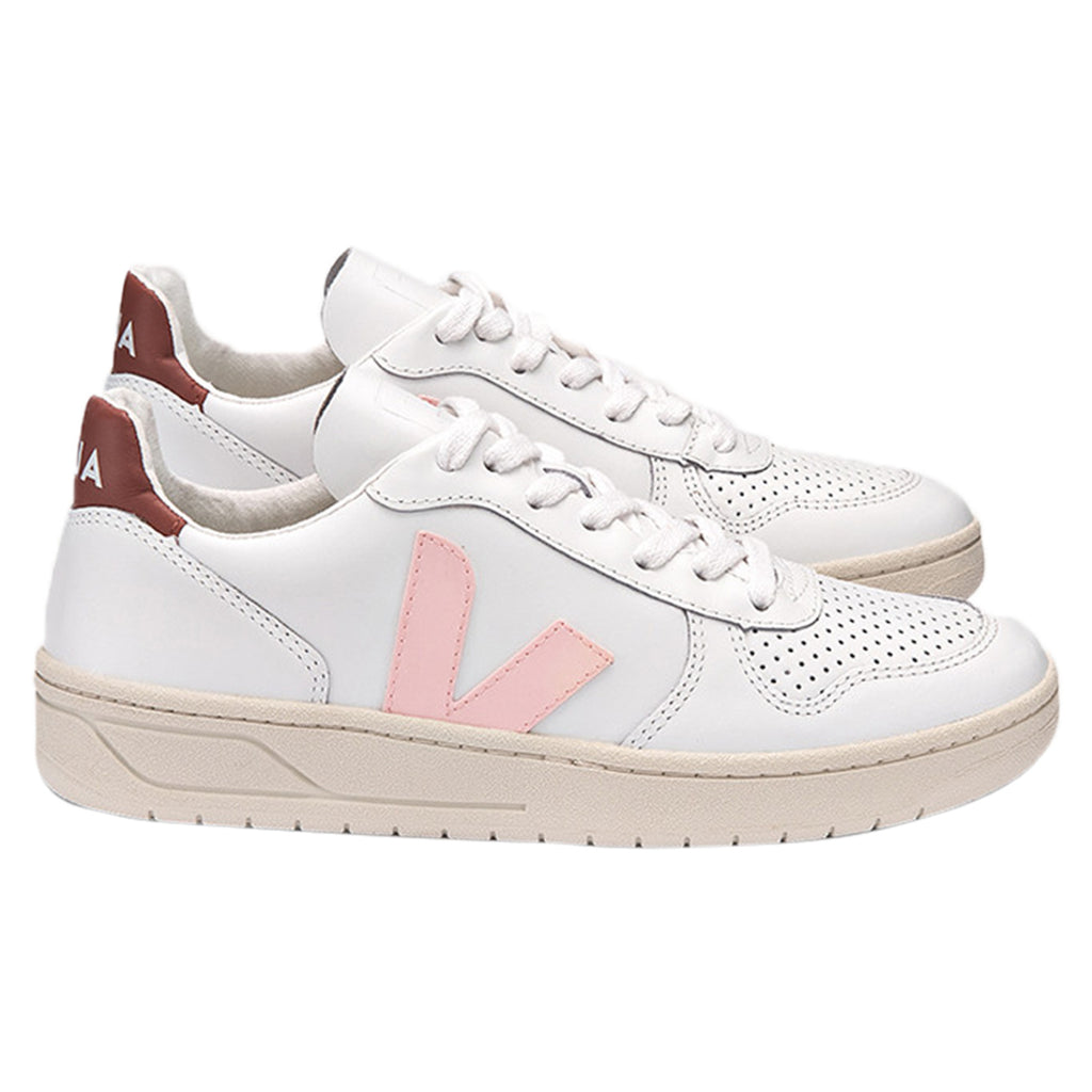 Veja V10 Leather Extra White Womens Style : Vx021791