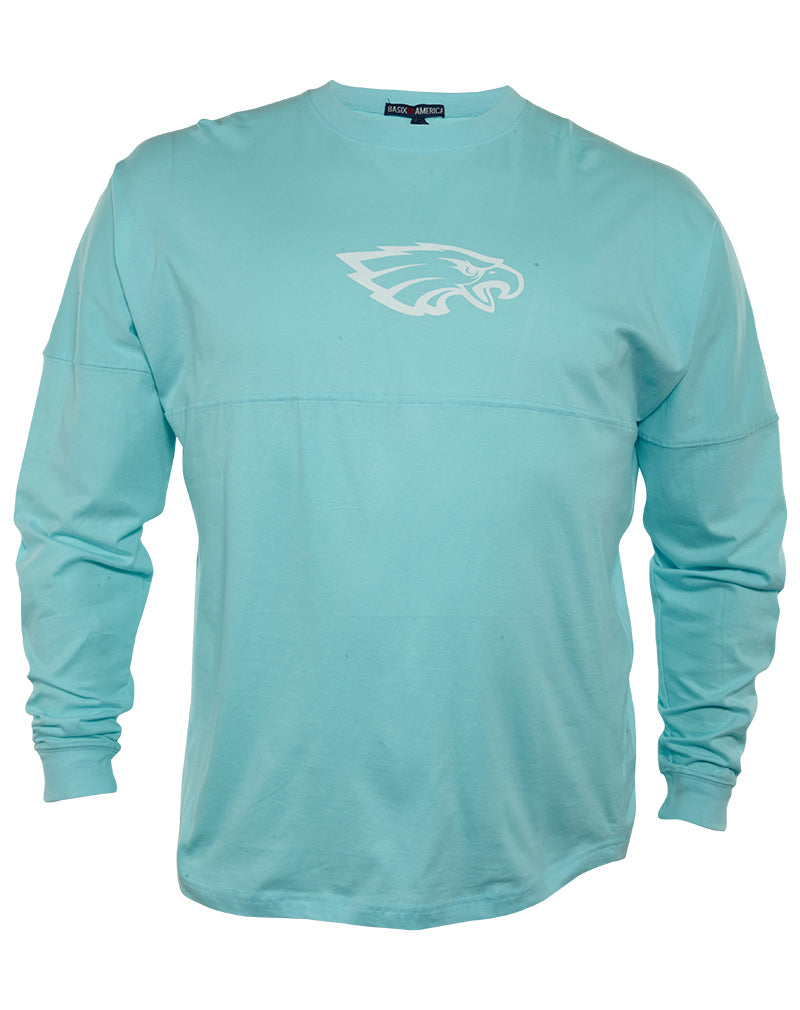 Basix Of America Rocky Point Eagles Long Sleeves Jumbo Crewneck T-Shirt Womens Style : MN-5660