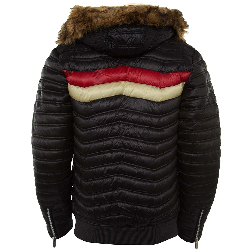 Robert Phillipe Stylish Wool Collar Puffer Jacket Mens Style : Mjn09