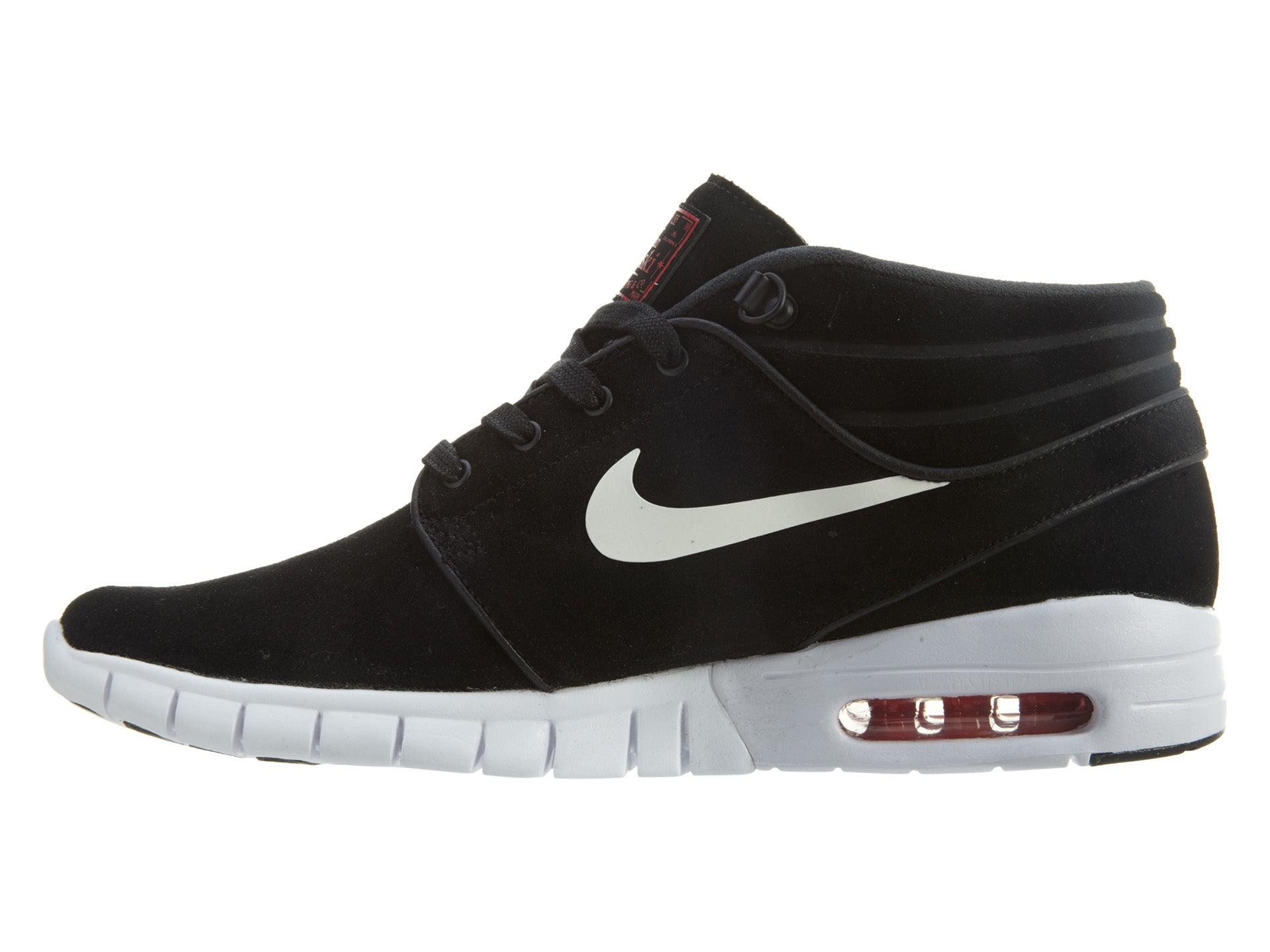 uk availability ee5bb 78a46 Nike Stefan Janoski Max Mid L Black White-University Red